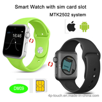 Mtk2502 Bluetooth 4.0 Smart Watch Phone with SIM Card Slot (DM09)