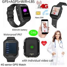 4G Android 6.0 Elderly Watch GPS with Heart Rate D46