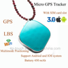 Tiny Personal GPS Tracker Pendant with Real Map Positioning A9