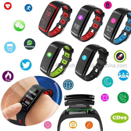 Waterproof Bluetooth Smart Bracelet with Heart Rate Monitor CD09