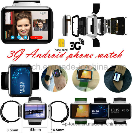 3G Andriod Touch Smart Watch Phone with large memory (DM98)