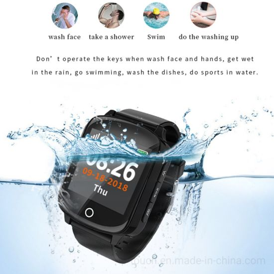 Senior People GPS Tracking Smart Watch with Fall Alarm D28W