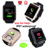 Senior IP67 Waterproof GPS Tracker watch with Heart Rate monitor Y12