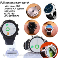 3G Full Round Screen Smart Watch Phone with WiFi (X5)