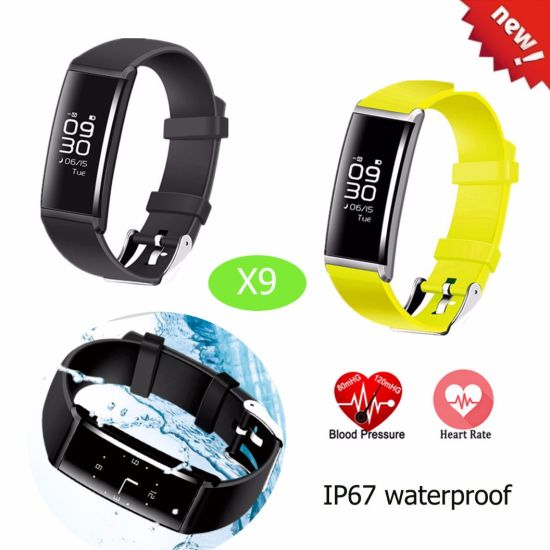 Bluetooth Bracelet with Heart Rate and Blood Pressure (X9)