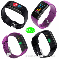Colorful Display Silicone Smart Bracelet with Heart Rate K18s