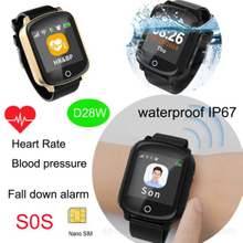 IP67 waterproof Senior Tracking GPS with Heart Rate and Blood Pressure monitor D28W