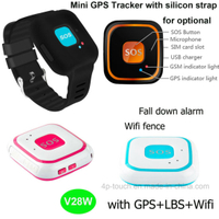 Silicone wristband Fall Down Alarm GPS Tracker with SOS call V28