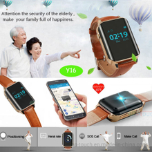 Ederly multiple accurate position health GPS Watch with Heart Rate Monitor (Y16)