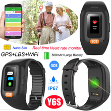 IP67 Waterproof Senior Bracelet GPS Tracker with Heart Rate and Blood Pressure Monitor Y6S