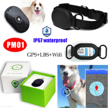 Mini Waterproof IP67 Pet GPS Tracker Gadget with Collar Pm01