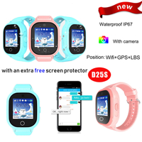 Hot Selling IP67 Waterproof GPS Smart Watch Locator with Camera D25s