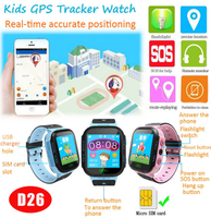 Promotional Smart GPS Tracking Watch Naviagtor with flashlight D26