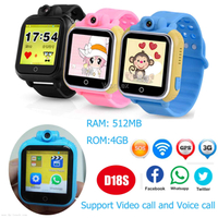 3G/WCDMA Big1.54inch Touch Screen Kids GPS Smart Watch (D18)