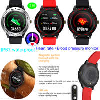 Swimming Waterproof Smart Bluetooth Bracelet with Heart rate Blood Pressure Monitor S18