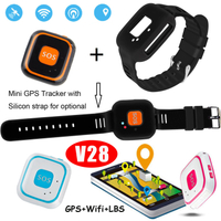 Personal Mini GPS Tracker with Silicone Strap V28