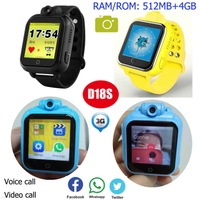 Android 3G Kids Tracking Smart Watch with 4G Memory D18s