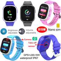 1.3inch IPS Screen Kids Smart Watch Locator System with IP67 Waterproof D15W