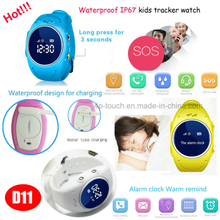 IP67 Waterproof Kids GPS Smart Watch Phone with Watch Removal Alarm D11