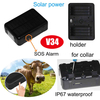9000mAh Solar Power GPS Tracker for Animals/Cattle V34