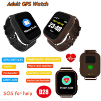 Large battery capacity Senior GPS Tracker Watch GPS with Heart Rate monitoring D28