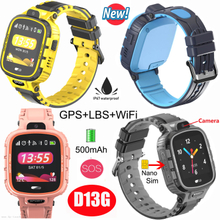 IP67 Waterproof Promotional Gift GPS Kids Smart Tracker Watch with 500mAh Battery D13G