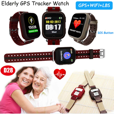 1.54inch touch screen Adult GPS Tracking Watch with pill alarm D28