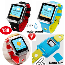 Waterproof senior GPS Tracking Watch with Blood Pressure measurement Y3H