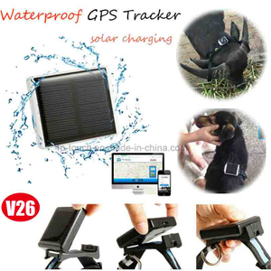 Solar Power Charging GPS Tracker with Sos Button (V26C)
