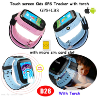 Kids Smart GPS Tracking Watch Device with Sos for Help D26