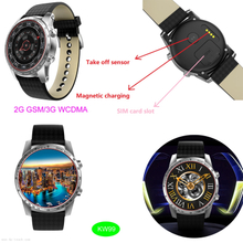 Hot Sale Bluetooth 4.0 Android 5.1 Smart Watch Phone with Heart Rate monitor Kw99