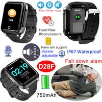 Hot selling oversea smart GPS Tracker Watch with fall down alarm D28F