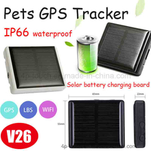 Solar-Powered GPS Tracker for Pet with multiple accurate positioning (V26)