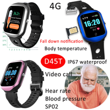 4G Body Temperature Senior Health Care Watch GPS Tracking Device with Fall Alarm