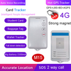 4G/LTE Network Student ID Card GPS Tracke with Fall down alarm Alert M15