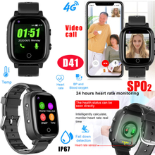 Waterproof IP67 Thermometer GPS Watch tracker with SPO2, Fall down detection