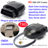 4G OBD GPS Tracking for Fuel Management Driver Habit Analysis T301
