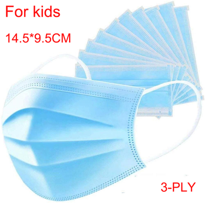 Kids Protective Anti Virus Blue Safety Disposable 3ply Face Mask For Children Face Mask