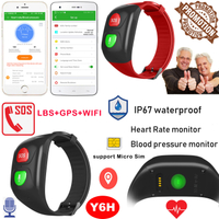 IP67 waterproof elderly GPS Tracker Bracelet with blood pressure measurement Y6H