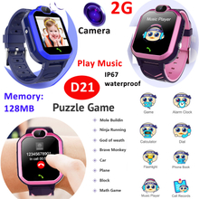2021 Children Baby Kids Game Smart Watch With 8 Games Camera Music Player D21